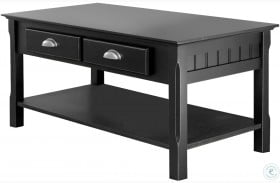 Timber Black 2 Drawer Coffee Table