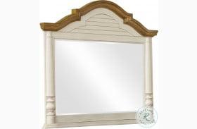 Oleta Buttermilk and Brown Brown Mirror