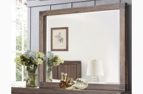 Lancashire Wire Brushed Cinnamon Mirror
