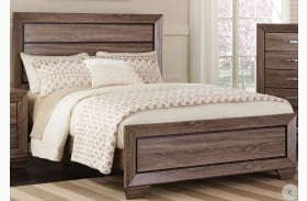 Kauffman Washed Taupe Panel Bed