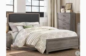 Woodrow Gray Queen Upholstered Panel Bed