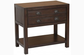 Lanchester Cocoa Shelf Nightstand by Donny Osmond