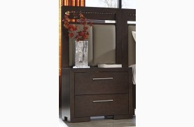 Berkshire Bitter Chocolate Nightstand with Pier