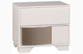 Havering Blanco And Sterling Drawer Nightstand