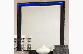 Havering Black and Sterling Mirror