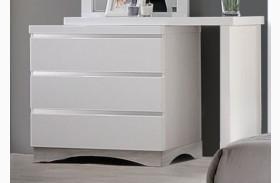 Alessandro Glossy White Dresser