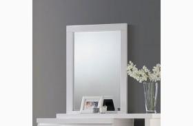 Alessandro Glossy White Mirror