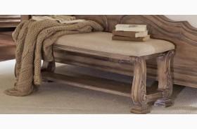 Ilana Antique Linen Bench