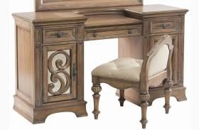 Ilana Antique Linen Vanity Desk