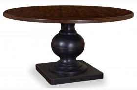 Whiskey Oak Round Dining Table