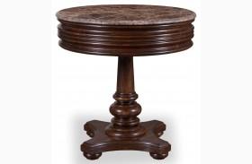Whiskey Barrel Oak Round Lamp Table