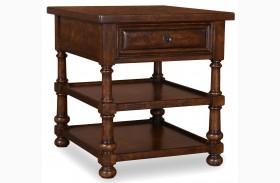 Whiskey Barrel Oak End Table
