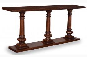 Whiskey Barrel Oak Sofa Table