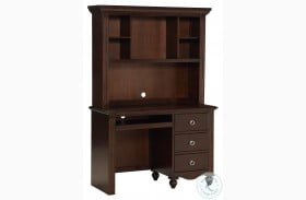 Meghan Espresso Writing Desk With Hutch