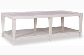 Cosmopolitan Parchment Rectangular Cocktail Table