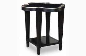 Cosmopolitan Ebony Shaped End Table