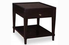 Cosmopolitan Ebony 1 Drawer End Table