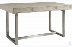 Signature Designs Brushed Stainless And Cerused Grey Gradient Bistro Table