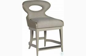 Signature Designs Cerused White Zeitgeist Linen Upholstered Counter Height Stool