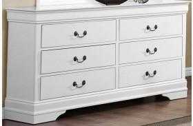Mayville Burnished White Dresser
