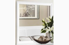 Mayville Burnished White Mirror