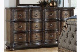 Tuscan Valley Weathered Oak 6 Drawer Dresser