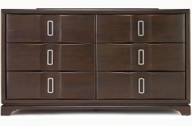 Brooke 6 Drawer Wood Top Dresser