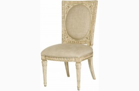 Jessica Mcclintock Boutique White Veil Dining Side Chair