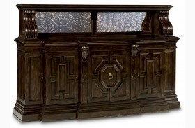 Collection One Grand Tortoise Credenza With Hutch