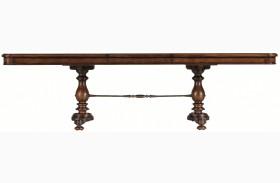 Arrondissement Heirloom Cherry Famille Extendable Pedestal Table