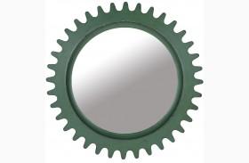 Epicenters Williamsburg Paint Green Round Mirror