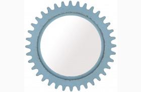 Epicenters Williamsburg Paint Blue Round Mirror
