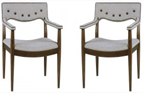 Epicenters Silver Lake Upholstered Back Arm Chair Set of 2