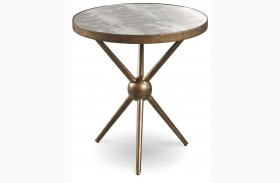 Epicenters Silver Lake Round End Table
