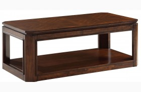 Avion Golden Mid-Brown Stain Cocktail Table
