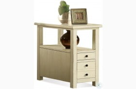Sullivan Country White Chairside Table