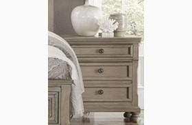 Bethel Wire Brushed Gray Nightstand
