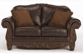 Exceptionnel North Shore Dark Brown Loveseat
