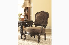 North Shore Dark Brown Showood Accent Chair