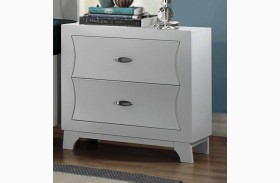 Zandra White Nightstand