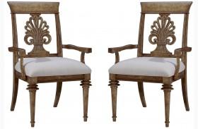 Pavilion Wood Back Arm Chair Set of 2