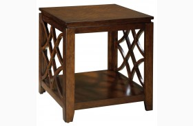 Woodmont Brown Cherry Stain End Table