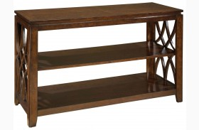 Woodmont Brown Cherry Stain Sofa Table