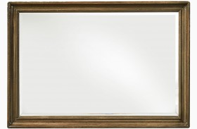 Continental Weathered Nutmeg Landscape Mirror