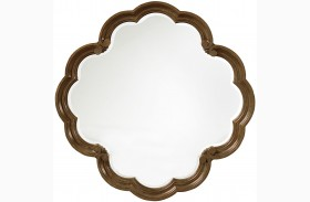 Continental Weathered Nutmeg Round Mirror
