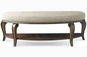 Continental Weathered Nutmeg Bed Bench