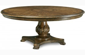 Continental Weathered Nutmeg Round Dining Table