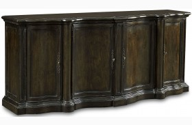Continental Vintage Melange Shaped Sideboard