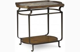 Continental Weathered Nutmeg Glazed Rectangular End Table