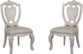 Renaissance Shield Back Side Chair Set of 2